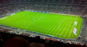 live football match